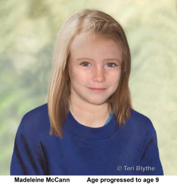 Madeleine McCann Age Progression Image (age 9)