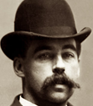 H.H. Holmes, one of America's First Serial Killers - image updated by JD Crighton, all rights reserved